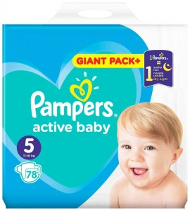 Pampers Active Baby Giant Pack No5 (11- 16 kg), 78 Τεμάχια