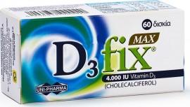 Uni-Pharma D3 Fix Max 4000 IU, 60 Ταμπλέτες