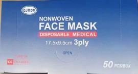 Μάσκες Χειρουργικές Πιστοποίηση CE/ EN14683 TYPE IIR 3ply, 50 Τεμάχια