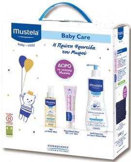 Mustela Promo Pack: Gentle Cleansing Gel 500ml & Vitamin Barrier Cream 50ml & Baby Oil 110ml & Δώρο Νεσεσέρ
