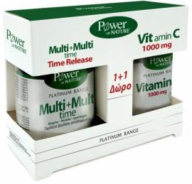 Power Health Multi + Multi Time 30 Ταμπλέτες & Δώρο VitC 1000mg 20 Ταμπλέτες