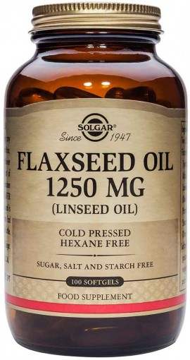 Solgar Flaxseed Oil 1250mg, 100 Κάψουλες