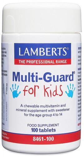 Lamberts Multi Guard For Kids, 100 Ταμπλέτες