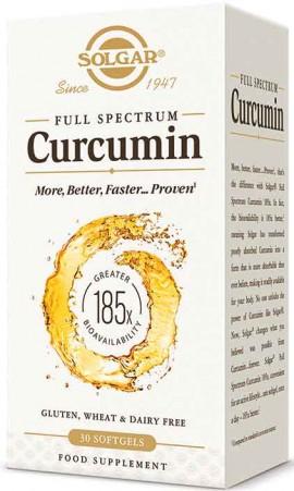 Solgar Full Spectrum Curcumin, 30 Κάψουλες