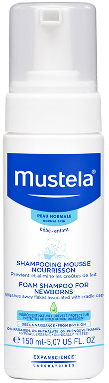 Mustela Foam Shampoo Newborn, 150ml