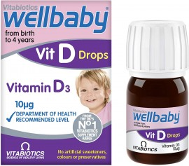 Vitabiotics Wellbaby Vitamin D3 Drops 10mg, 30ml