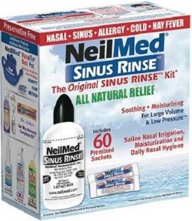NeilMed Sinus Rinse Kit Για Ενήλικες, 1 Συσκεύη & 60 Φακελάκια