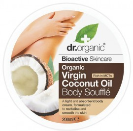 Dr. Organic Coconut Oil Body Souffle, 200ml