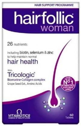 Vitabiotics Hairfolic Woman, 60 Ταμπλέτες