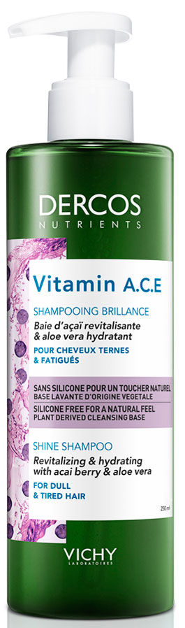 Vichy Dercos Nutrients Vitamine A.C.E Shampoo, 250ml