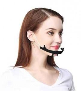 Μάσκα Διάφανη Πολλαπλών Χρήσων  Mαύρη, 1 Τεμάχιο