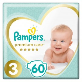 Pampers Premium Care Jumbo Pack Νο3 (6-10kg), 60 Τεμάχια