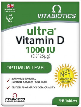 Vitabiotics Ultra D3 1.000mg, 96 Tαμπλέτες