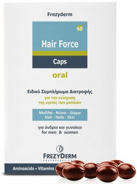 Frezyderm Hair Force Caps, 60 Caps