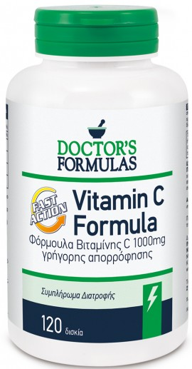 Doctors Formulas Vitamin C 1000mg, 120 Ταμπλέτες