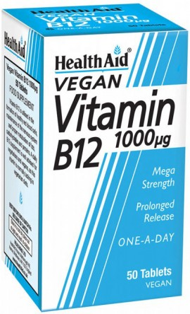 Health Aid Vitamin B12 1000mg, 100 Ταμπλέτες