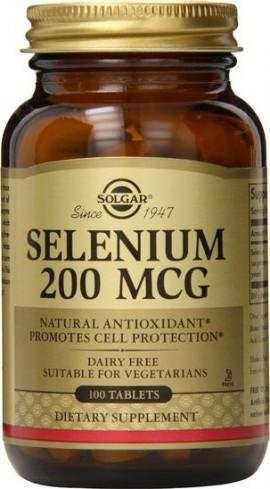 Solgar Selenium 200mg, 100 Ταμπλέτες