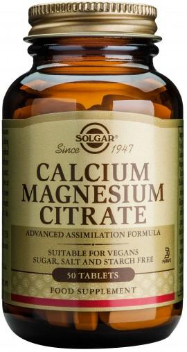 Solgar Calcium Magnesium Citrate, 50 Ταμπλέτες