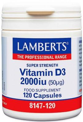 Lamberts Vitamin D3 2000iu, 120 Kάψουλες