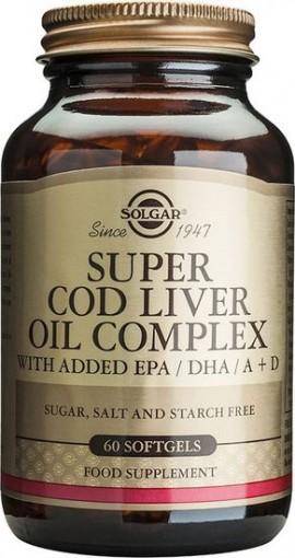 Solgar Cod Liver Oil Complex, 60 Κάψουλες