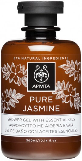 Apivita Pure Jasmine Shower Gel With Essential Oils,300ml