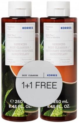 Korres Renewing Body Cleanser Mint Tea, 2x 250ml