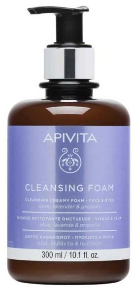 Apivita Aφρός Καθαρισμού Με Ελιά & Λεβάντα, 300ml
