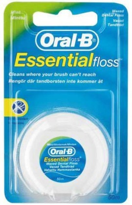 Oral-B Essential Floss Κηρωμένο Γέυση Μέντα, 50m