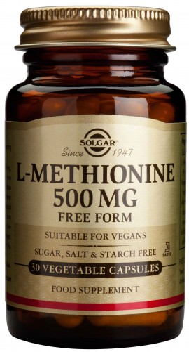 Solgar L- Methionine 500mg, 30 Κάψουλες