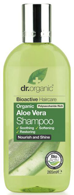 Dr. Organic Aloe Vera Shampoo, 256ml