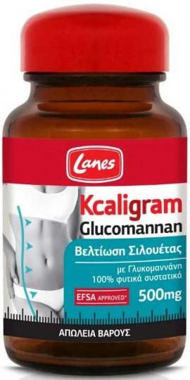 Lanes Kcaligram Glucomannan, 60 Κάψουλες