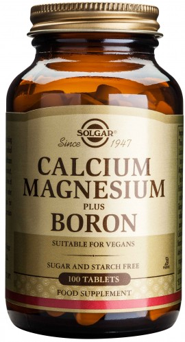 Solgar Calcium Magnesium Plus Boron, 100 Ταμπλέτες