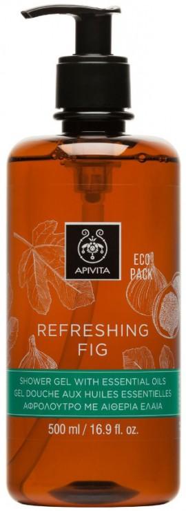 Apivita Refreshing fig Shower Gel With Essential Oils, 500ml
