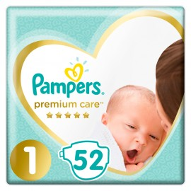 Pampers Premium Care Νο1 (2-5kg), 52 Τεμάχια