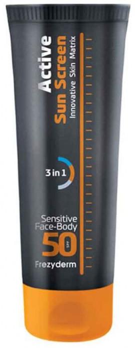 Frezyderm Sun Screen Sensitive Face- Body SPF50, 150ml