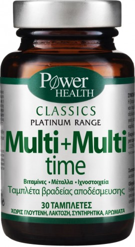 Power Health Platinum Multi+Multi Time, 30 Τάμπλέτες
