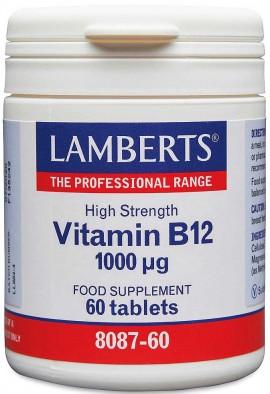 Lamberts Vitamin B12 1000mcg, 60 Tαμπλέτες