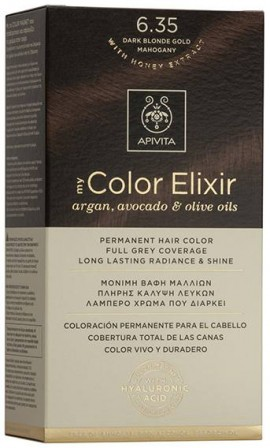 Apivita My Color Elixir 6.35 Ξανθό Σκούρο Μελί Μαόνι