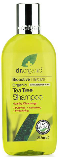 Dr. Organic Tea Tree Shampoo, 265ml