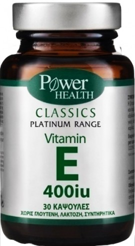 Power Health Platinum Vitamin E 400IU, 30 Κάψουλες