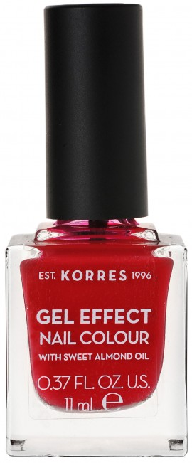 Korres Gel Effect Nail Color 51 Rosy Red, 11ml