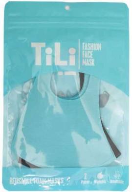 Tili Μάσκες Παιδικές Πολλαπλών Χρήσεων Γαλάζια-Μαύρη, 2 Τεμάχια