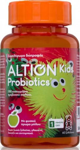 Altion Kids Probiotics Γεύση Μήλου, 60 Ζελεδάκια