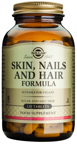 Solgar Skin, Nail & Hair Formula, 120 Ταμπλέτες