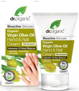 Dr. Organic Virgin Olive Oil Hand & Nail Cream, 125ml