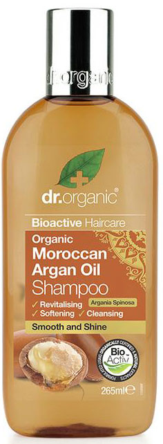 Dr. Organic Moroccan Argan Oil Shampoo, 265ml