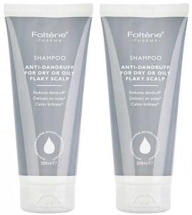 Foltene Shampoo Antidandruff Oily Flaky Scalp 1+1 Δώρο, 2x200ml