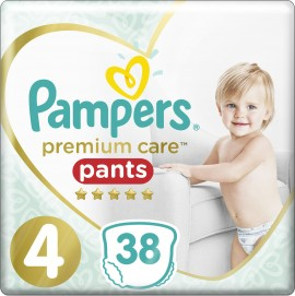 Pampers Premium Care Pants No4 (9- 15Kg), 38 Τεμάχια