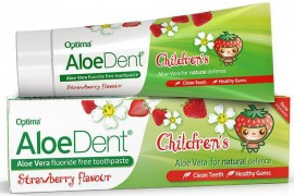 Optima AloeDent Strawberry Childrens Toothpaste, 50ml