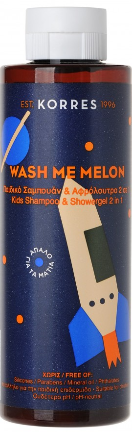 Korres Wash Me Melon Shampoo & Shower Gel, 250ml